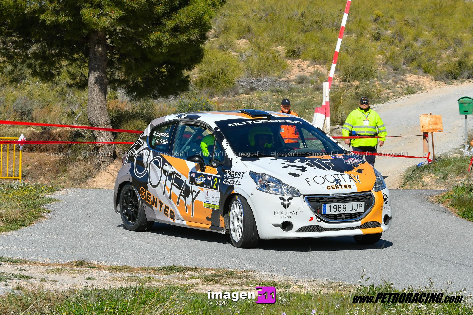 Rallye Valle del Almanzora, Fali galan, peugeot 208 r2, campeonato de Andalucía de rallyes.