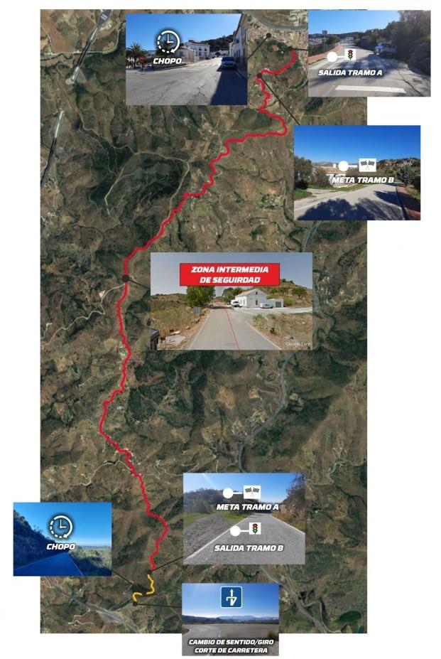 Recorrido Rally Crono Casabermeja 2021