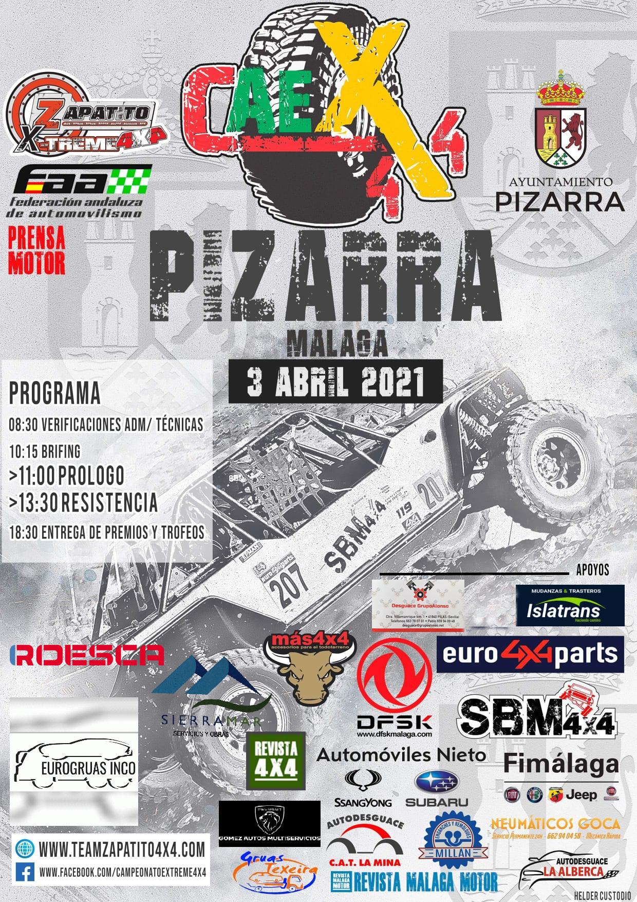 Cartel Campeonato Andalucía Extremo 4x4 - Pizarra