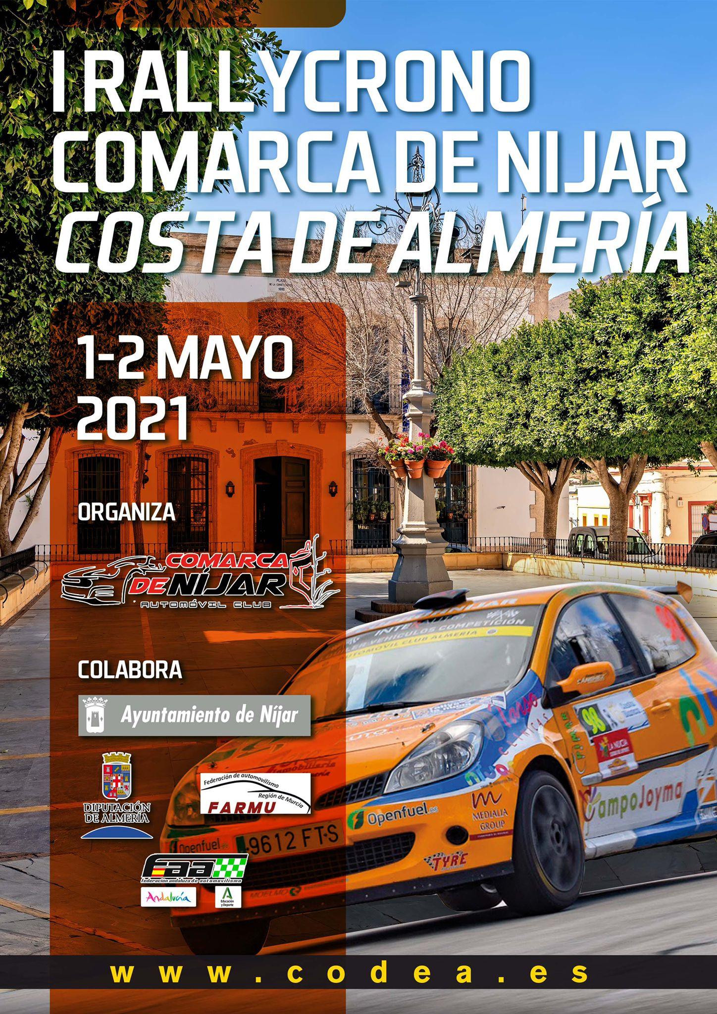 Cartel I Rally Crono Comarca de Níjar