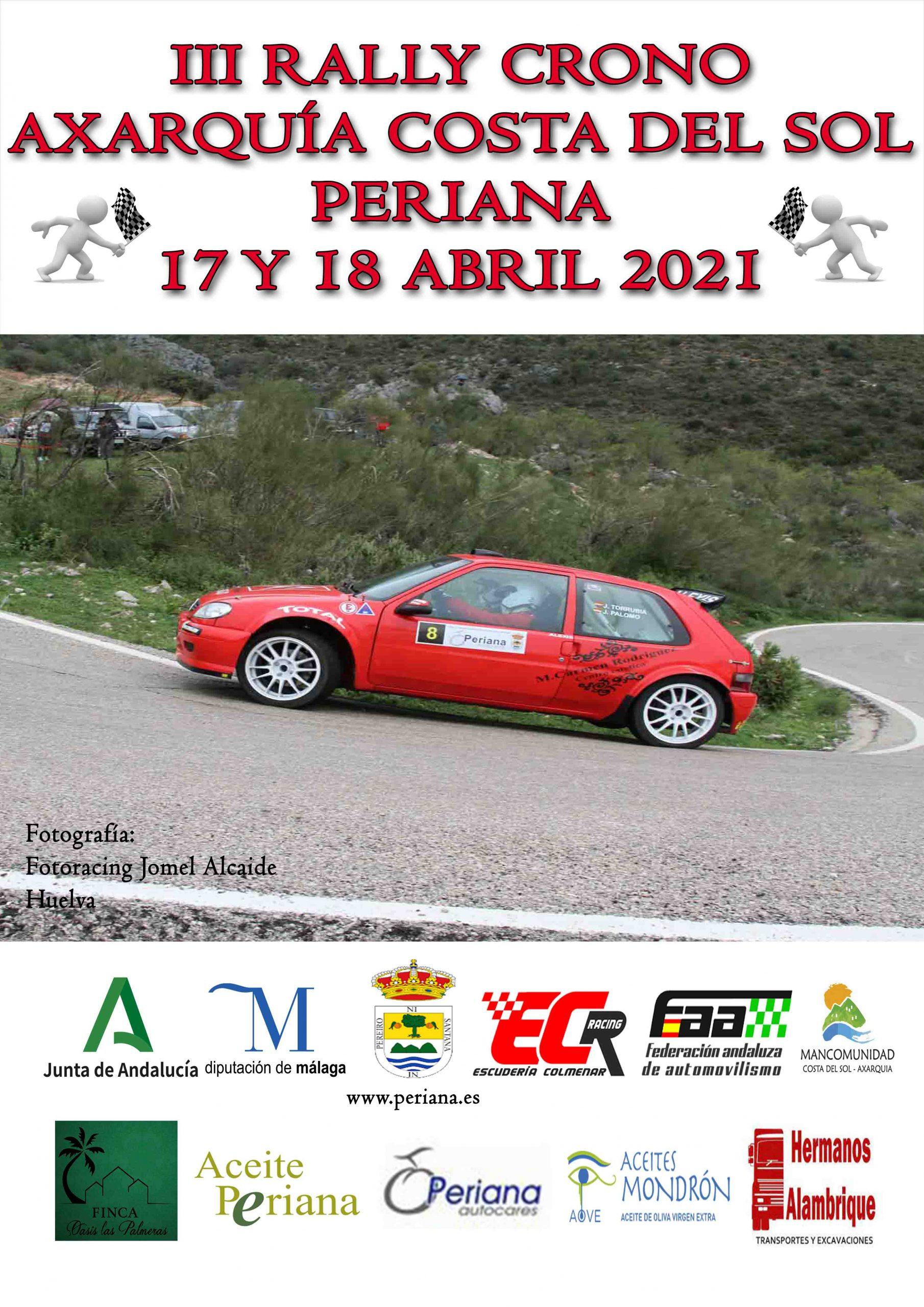 Cartel III Rally Crono Axarquía Costa del Sol Periana