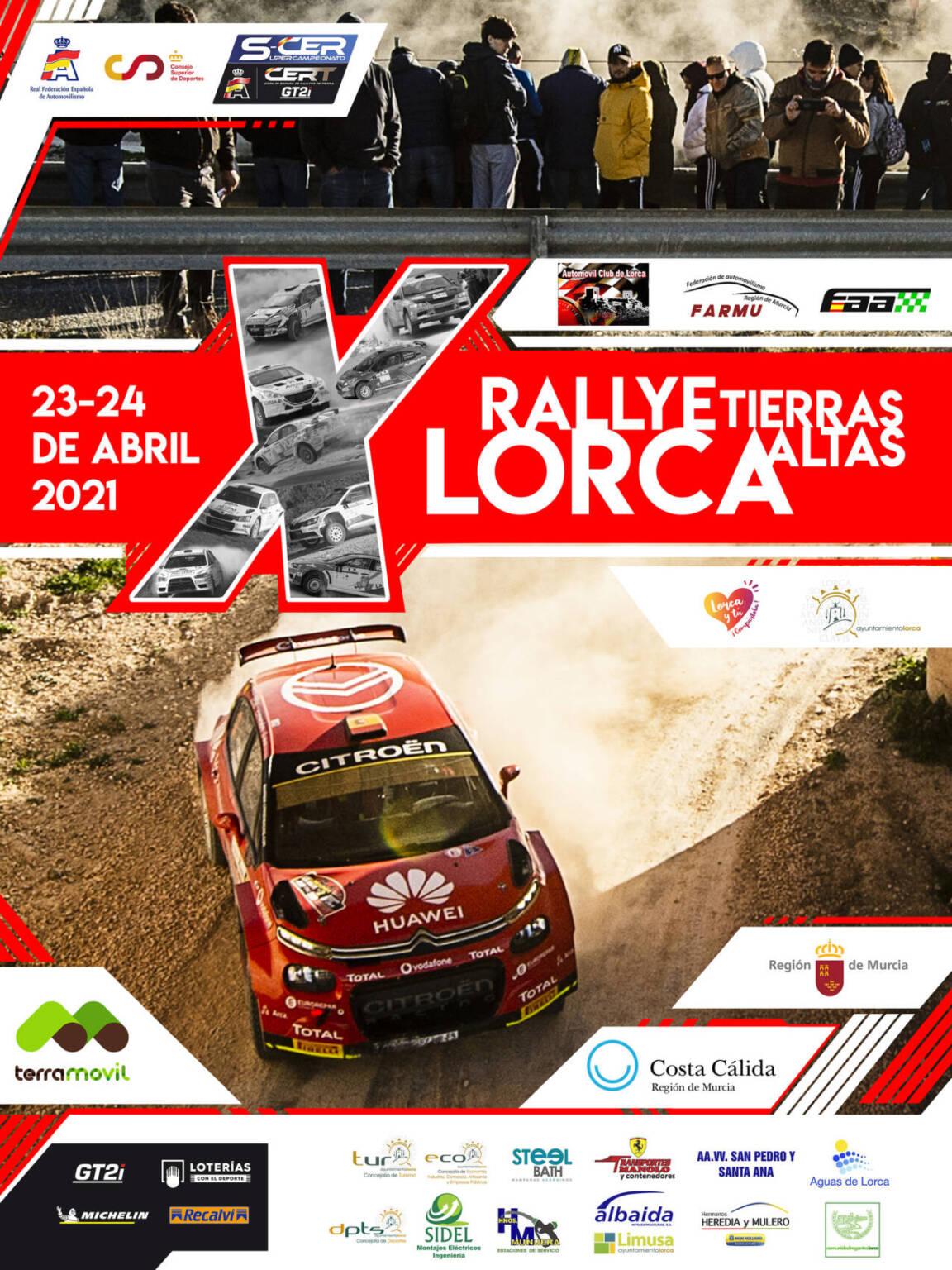 Cartel X Rallye Tierras Altas de Lorca