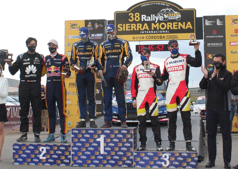 Podio 38º Rallye Sierra Morena