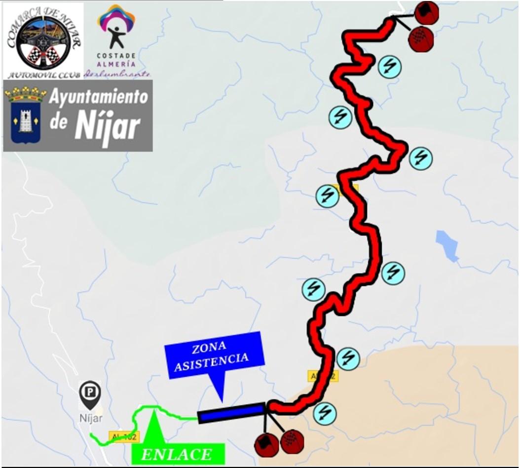 Recorrido I Rally Crono Comarca de Níjar