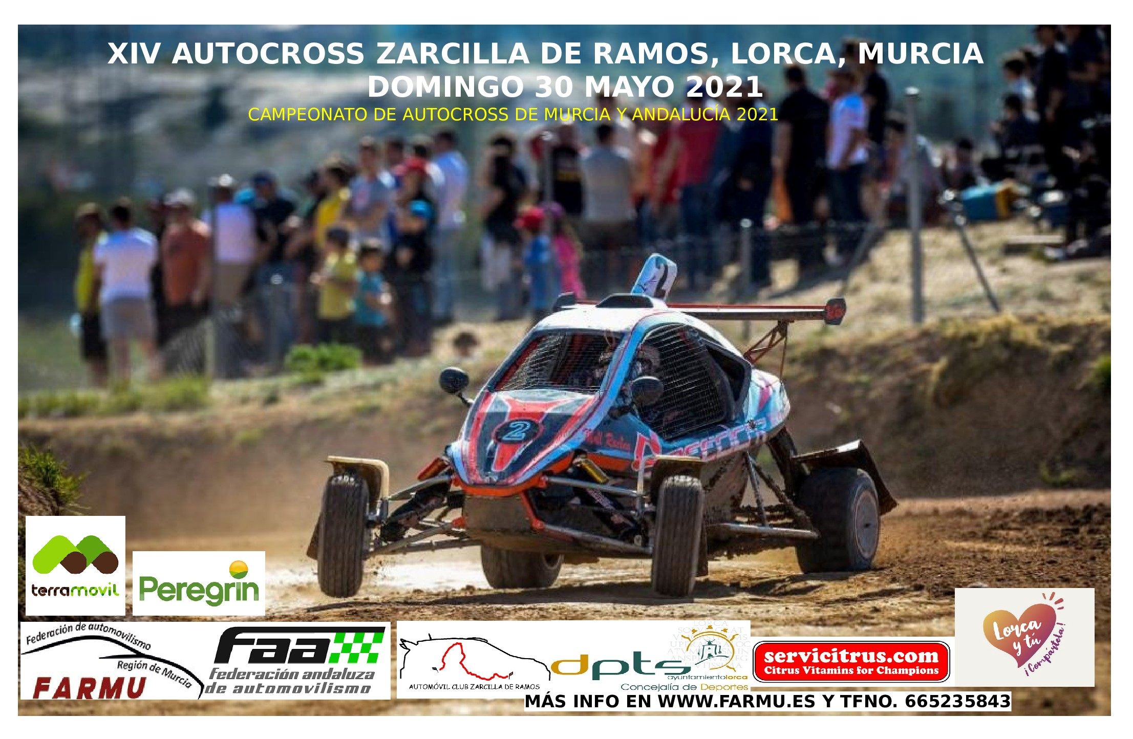 Cartel Campeonato Andalucía Autocross - Zarcilla de Ramos