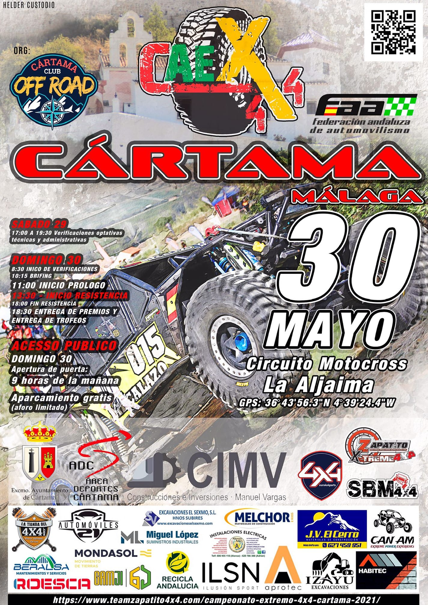 Cartel Campeonato Andalucía Extremo 4x4 - Cártama