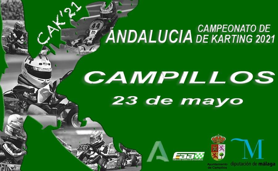 Cartel Campeonato Andalucía Karting - Campillos