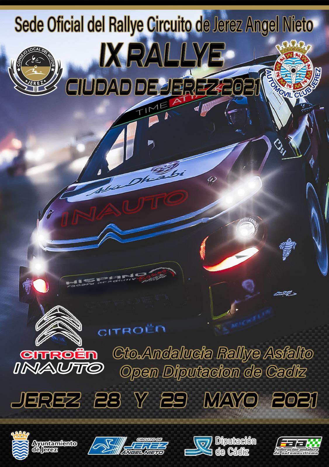 Cartel IX Rallye Ciudad de Jerez