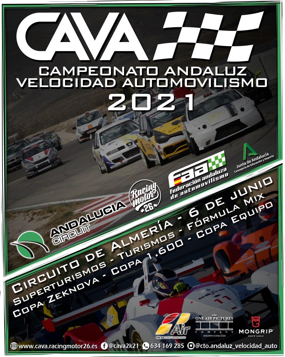 Cartel Campeonato Andaluz Velocidad Automovilismo - Almería