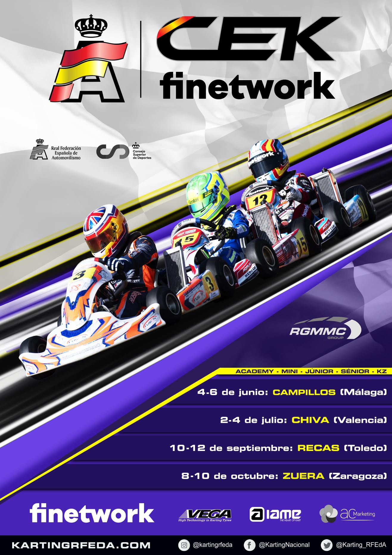 Cartel Campeonato España Karting - Campillos