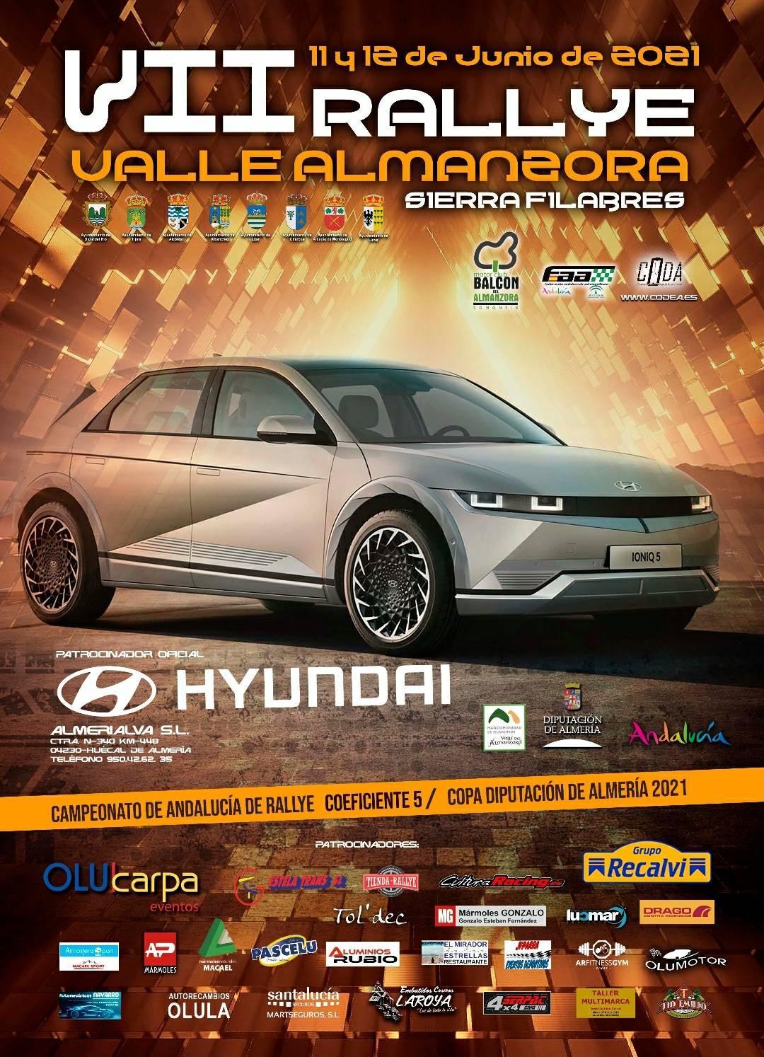 Cartel VII Rallye Valle del Almanzora - Filabres