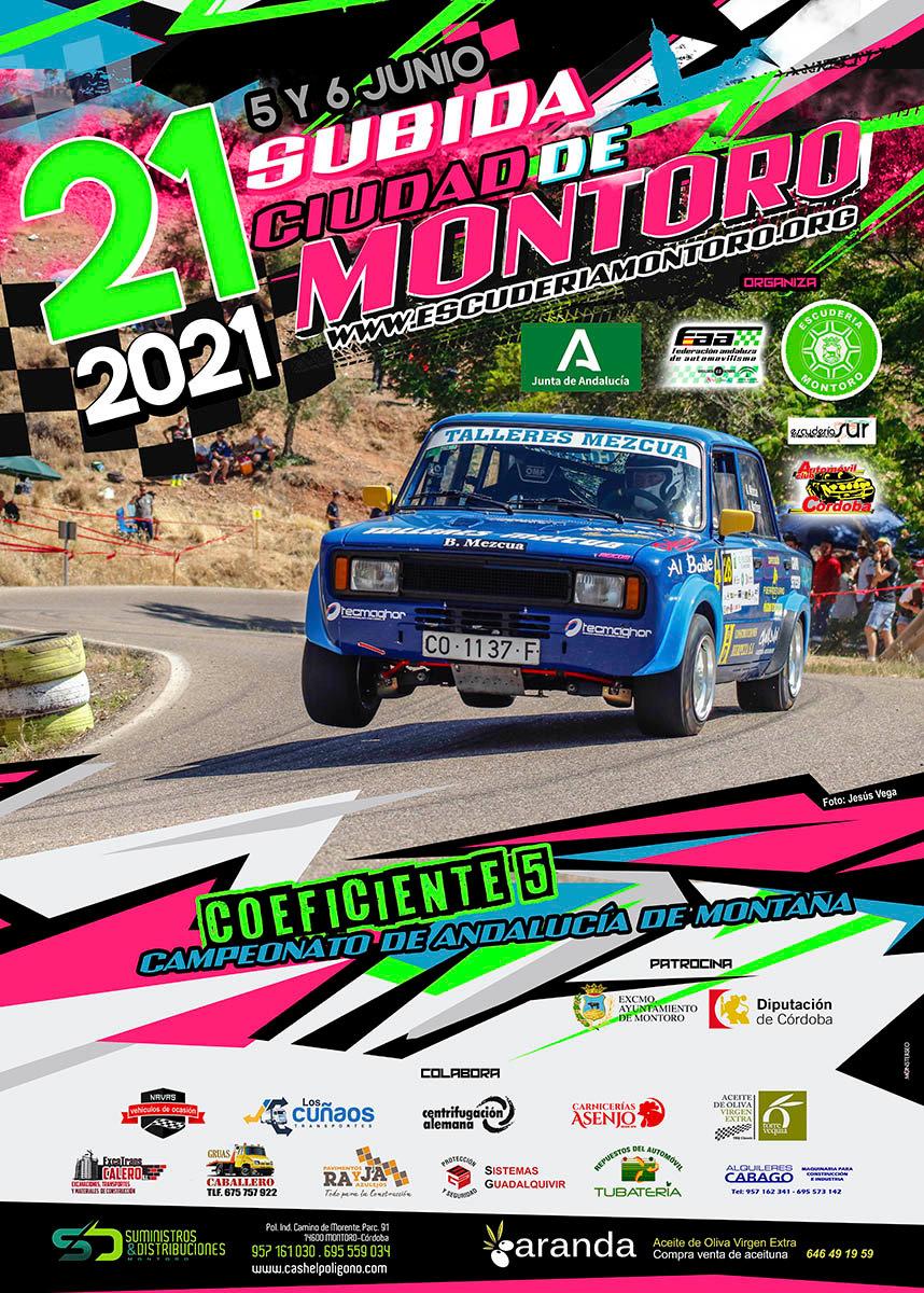 Cartel XXI Subida Ciudad de Montoro