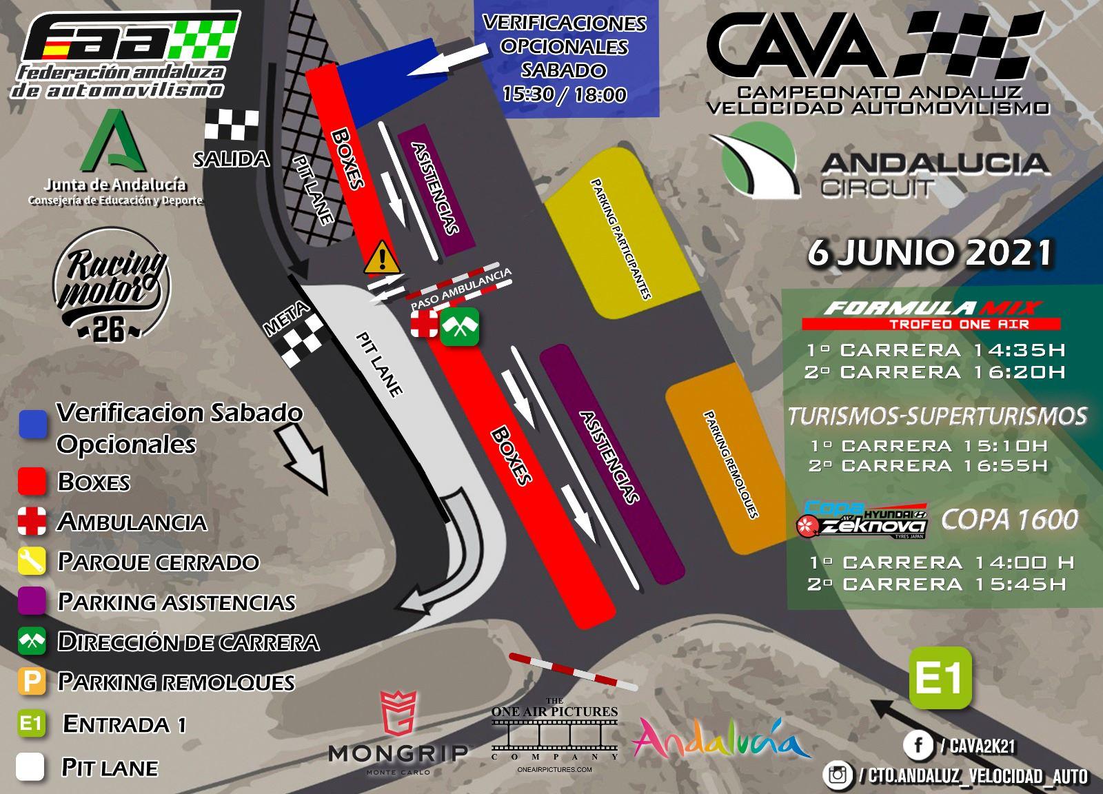 Ubicaciones Campeonato Andaluz Campeonato Velocidad Automovilismo - Almería