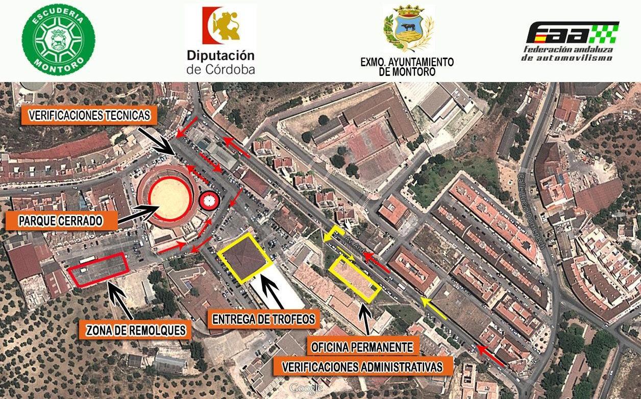 Ubicaciones XXI Subida Ciudad de Montoro