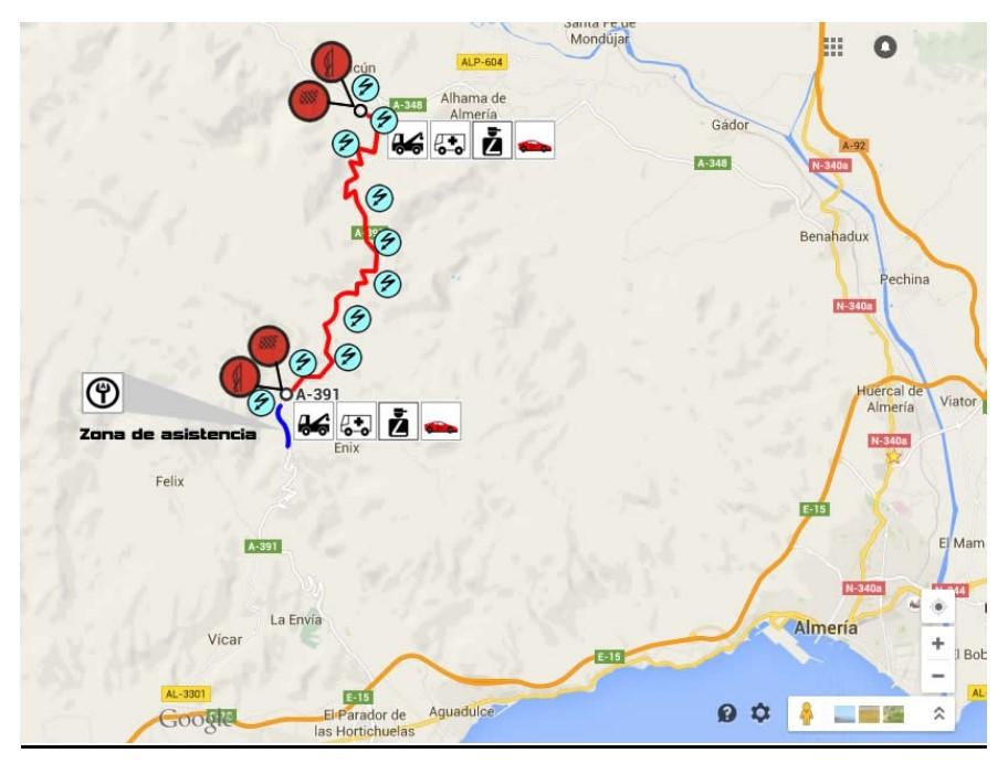 Mapa de recorrido Rally Crono Ciudad de Enix