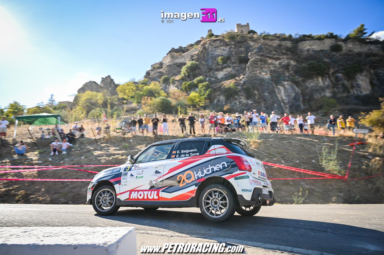 Ernesto Salguero, Rallye Sierra de Cádiz, cruce de Zahara